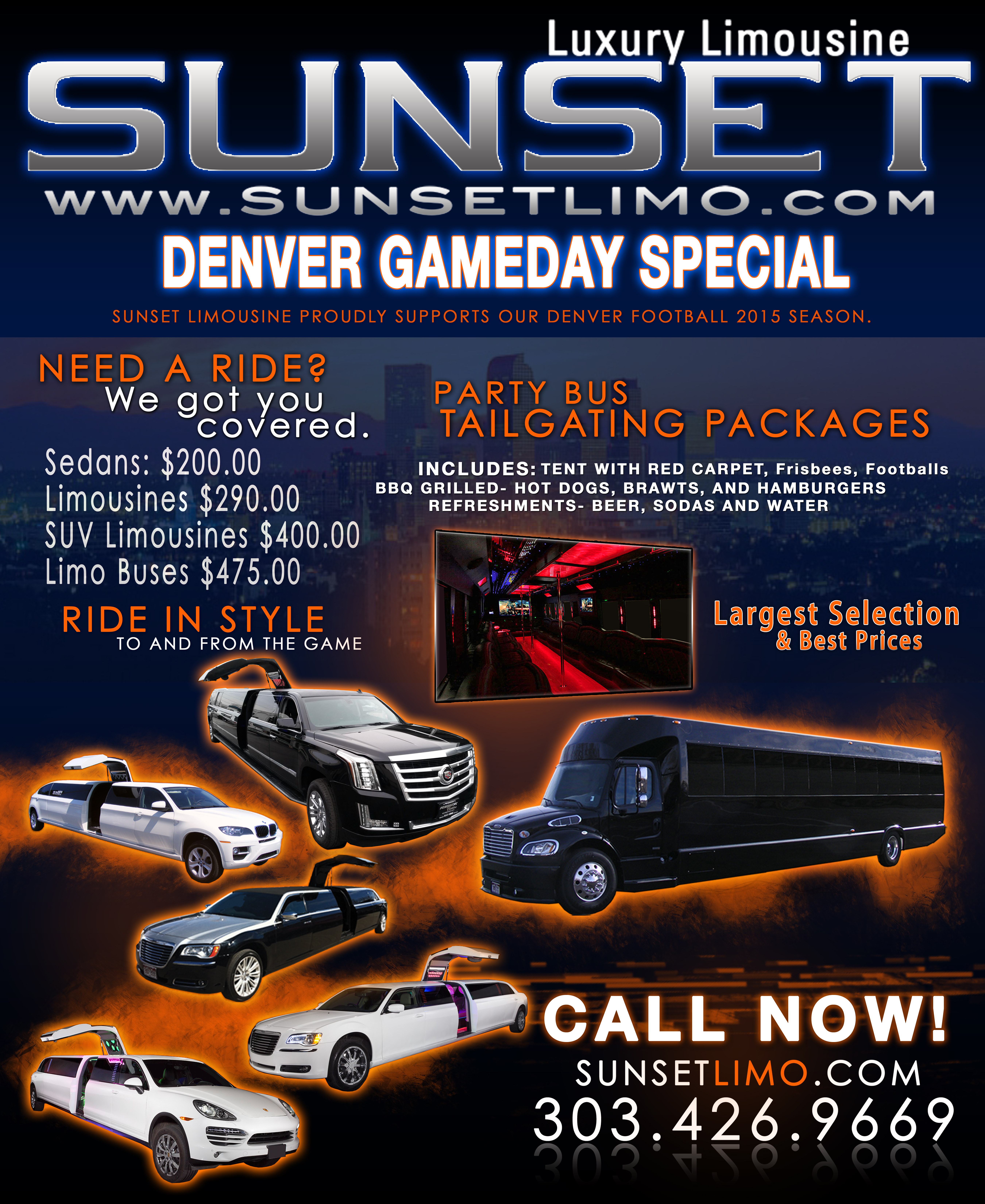 Limos for a Night Out in Denver