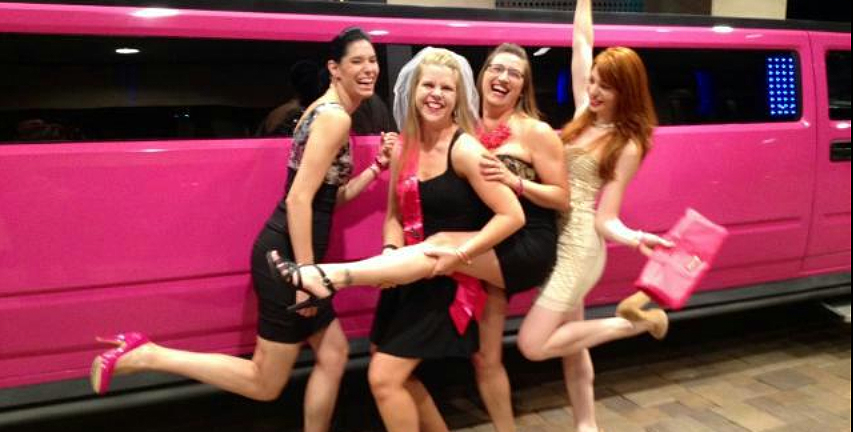 A very pink bachelorette party!