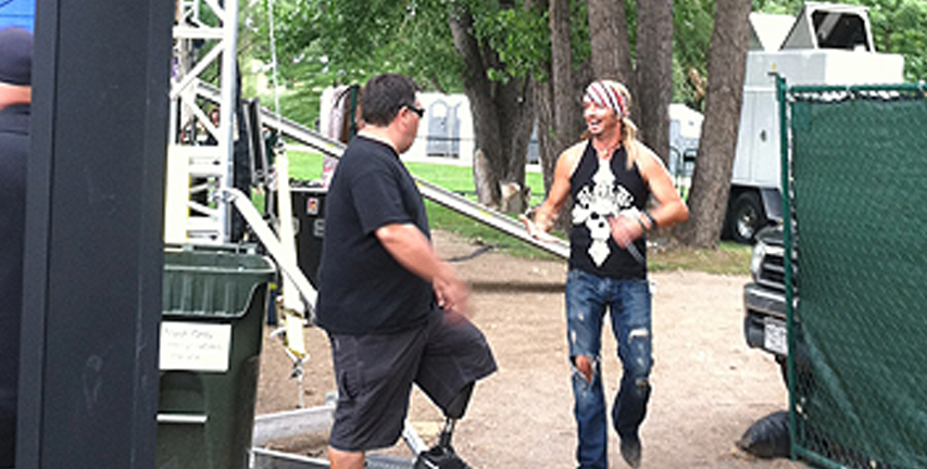 Sunset Limos backstage with Brett Michaels.