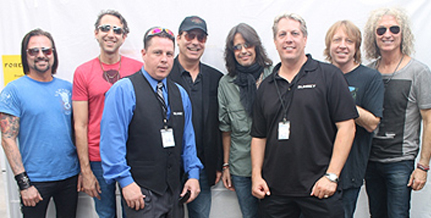 Sunset Limos backstage with Foreigner.