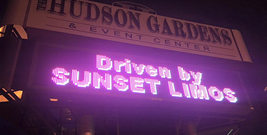 Sunset Limos gets the VIP treatment at Hudson Gardens.