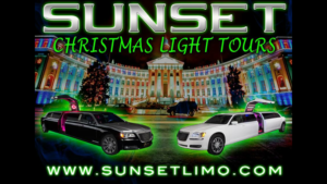 Sunset Denver christmas lights limo tour