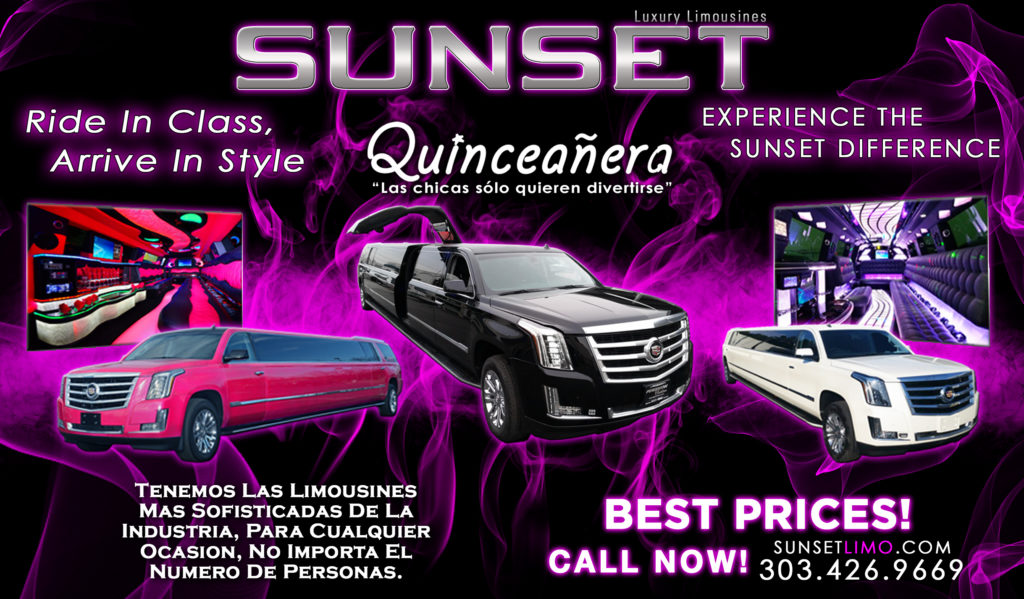 Denver quinceaneras from Sunset Luxury Limousines