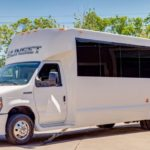Denver party bus rental by Sunset Luxury Limousines